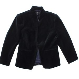 New JCREW Black Petite Going out blazer in velvet